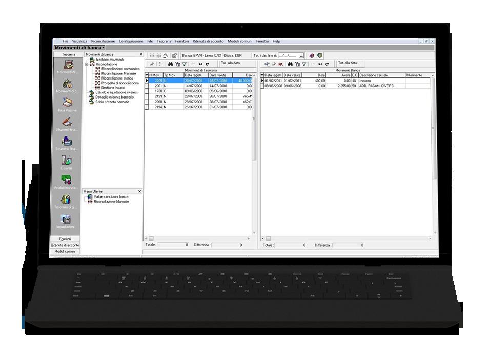 Software gestionale imprese edili modulo tesoreria