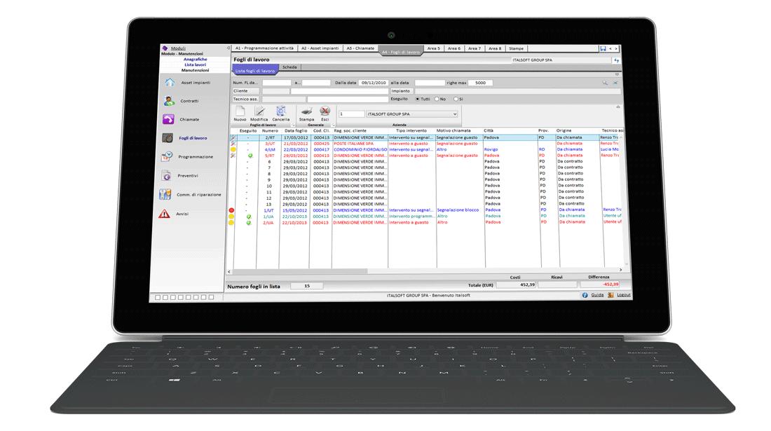 Topimpianti software per impiantisti Lista FDL