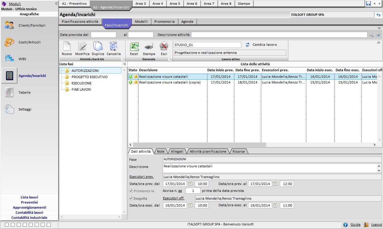 software gestionale per professionisti - Modulo Ufficio Tecnico