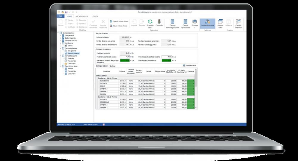 Termiko One - Software certificazione energetica contabilizzazione