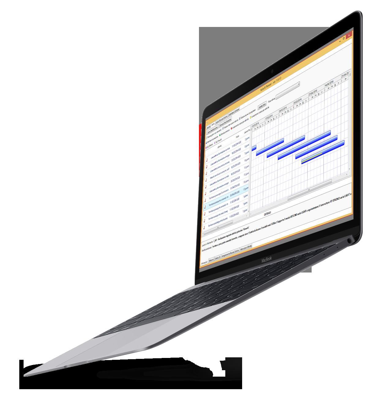 Software per impiantisti - Topimpianti - Gantt