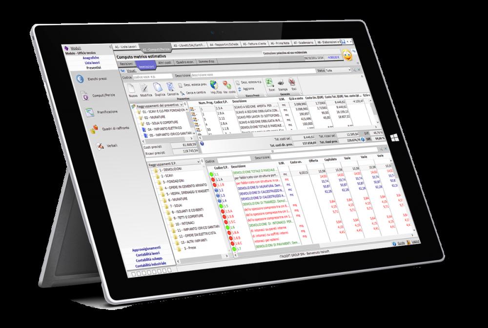 Topimpresa - software gestionale imprese edili - Computo metrico estimativo