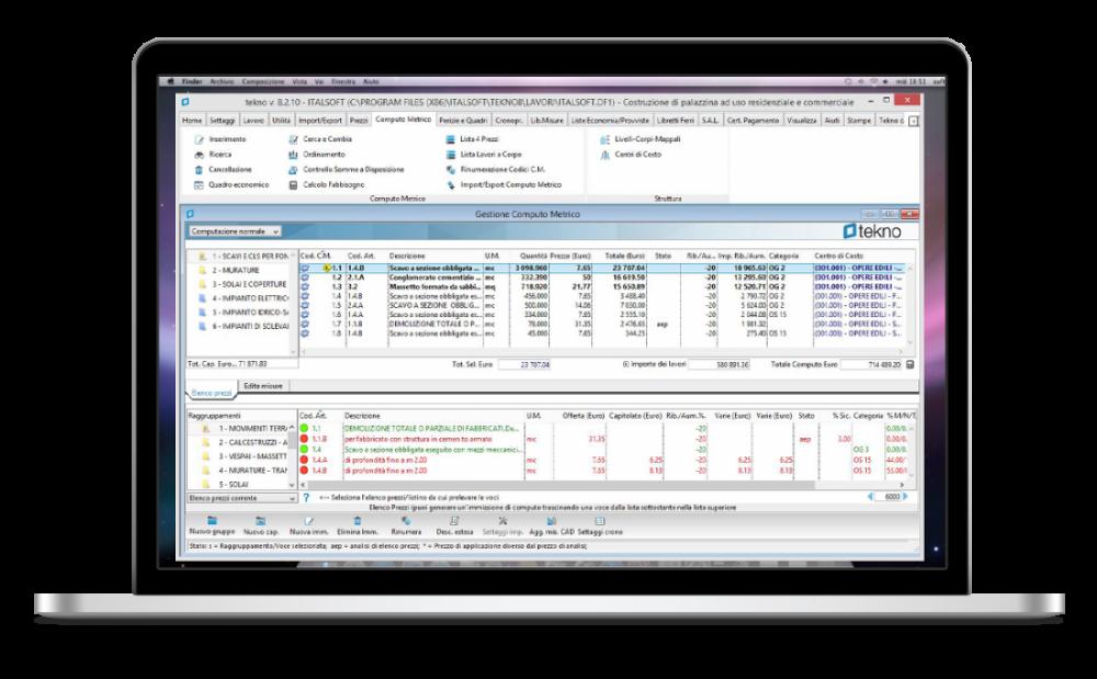 Italsoft group per il computo metrico estimativo scegli - Computo metrico per realizzazione di un bagno ...