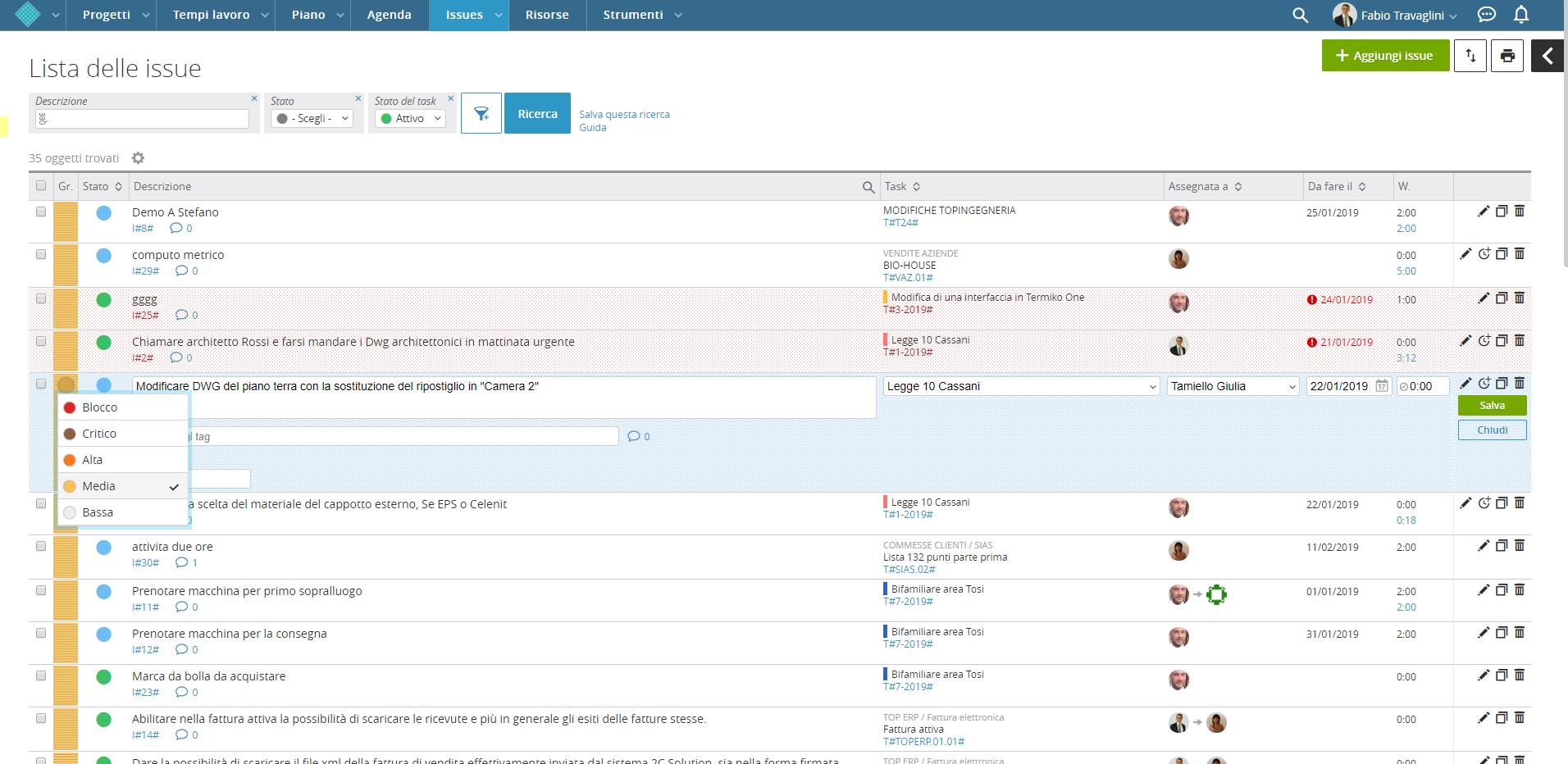 Assegnazione_priorita software per gestione commesse